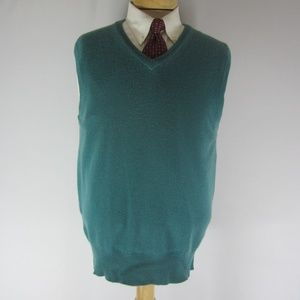Vintage Brooks Brothers Mens M Blue Cashmere Vest